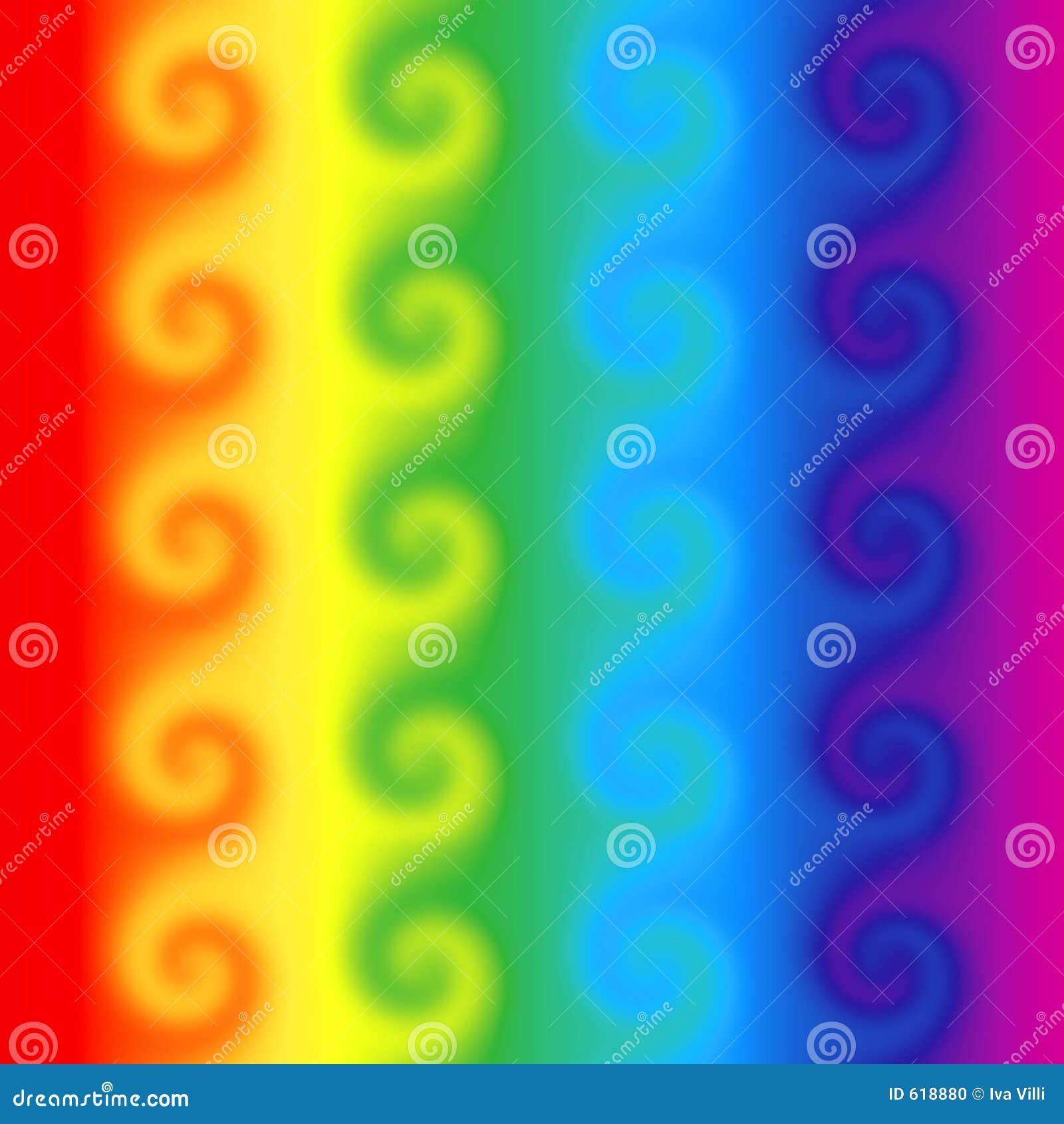 De wervelingen van de regenboog