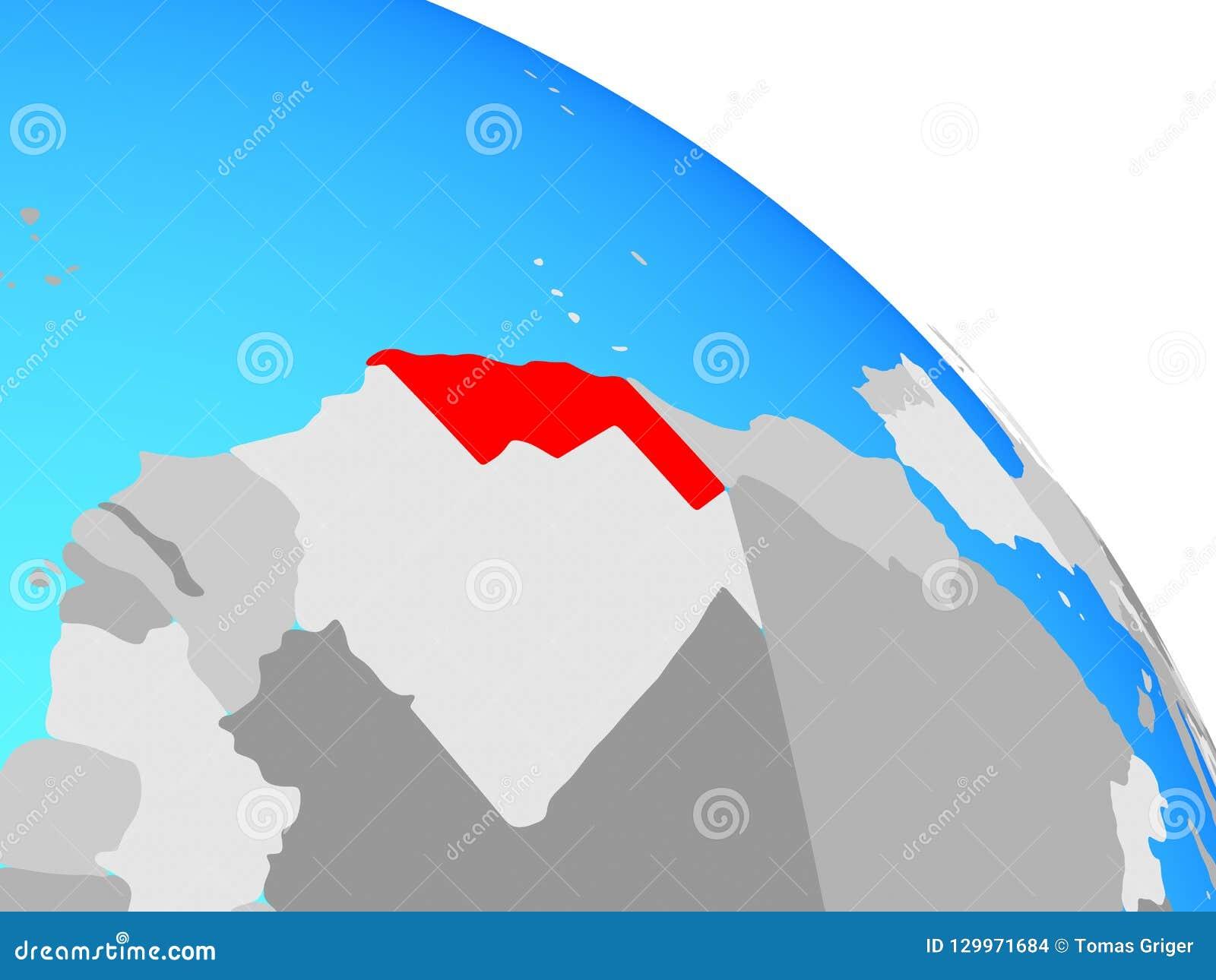De westelijke Sahara op bol