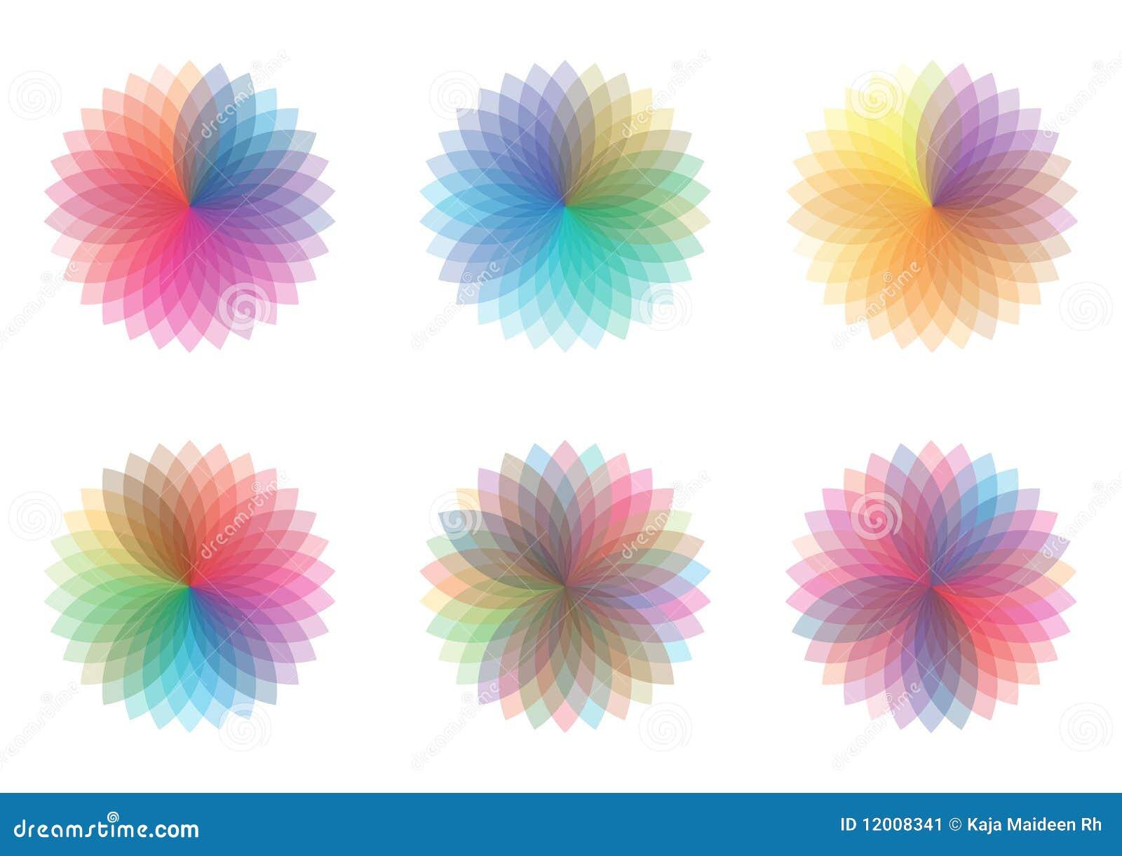 De wielen van de kleur