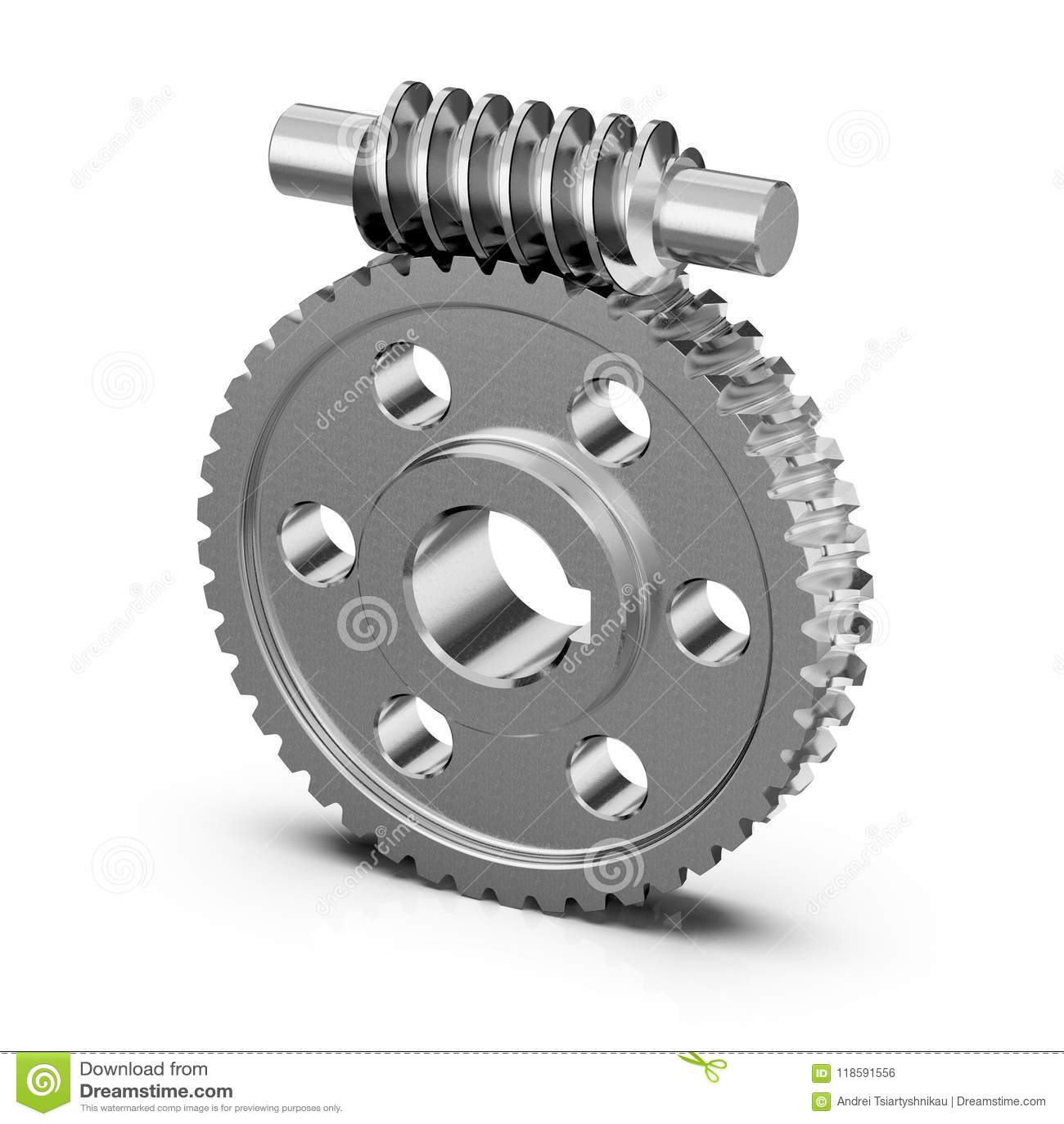 De wielen van de toestelworm Werktuigkundigen voor opleiding het 3d teruggeven