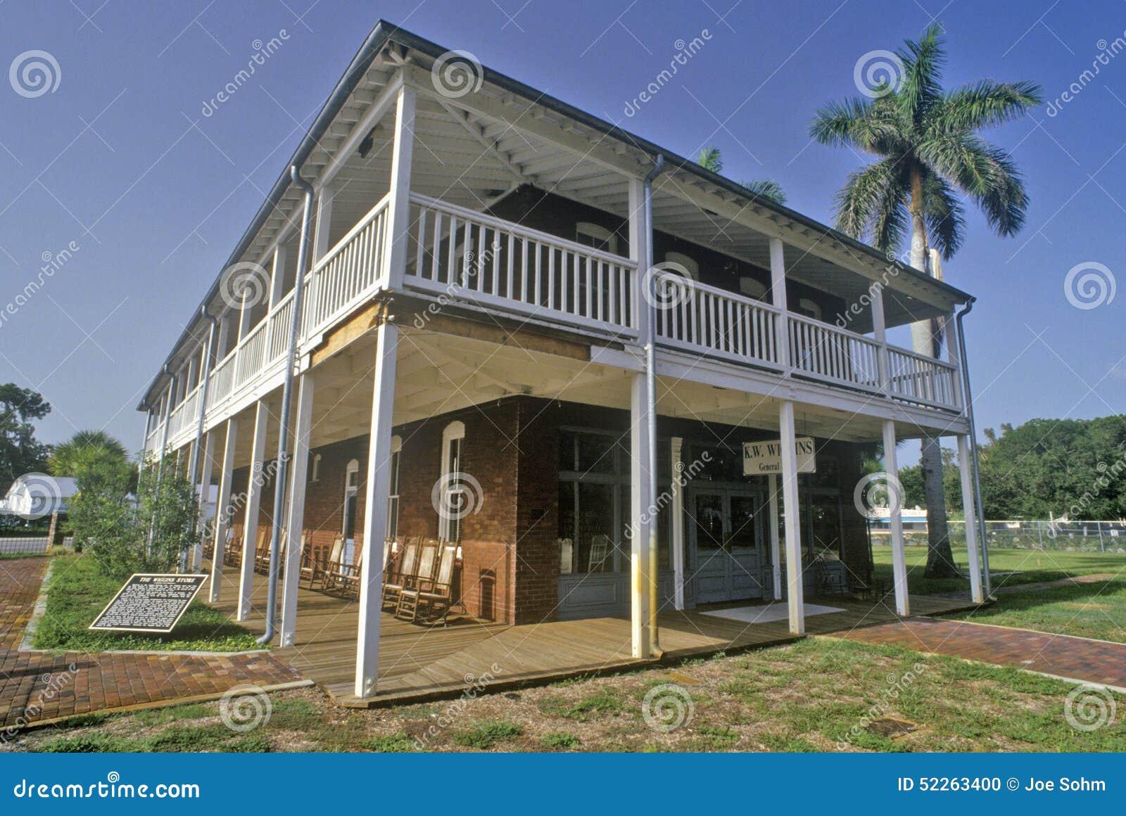 De Wiggins-Opslag bij het Manatee-Dorps Historische Park, Bradenton, Florida