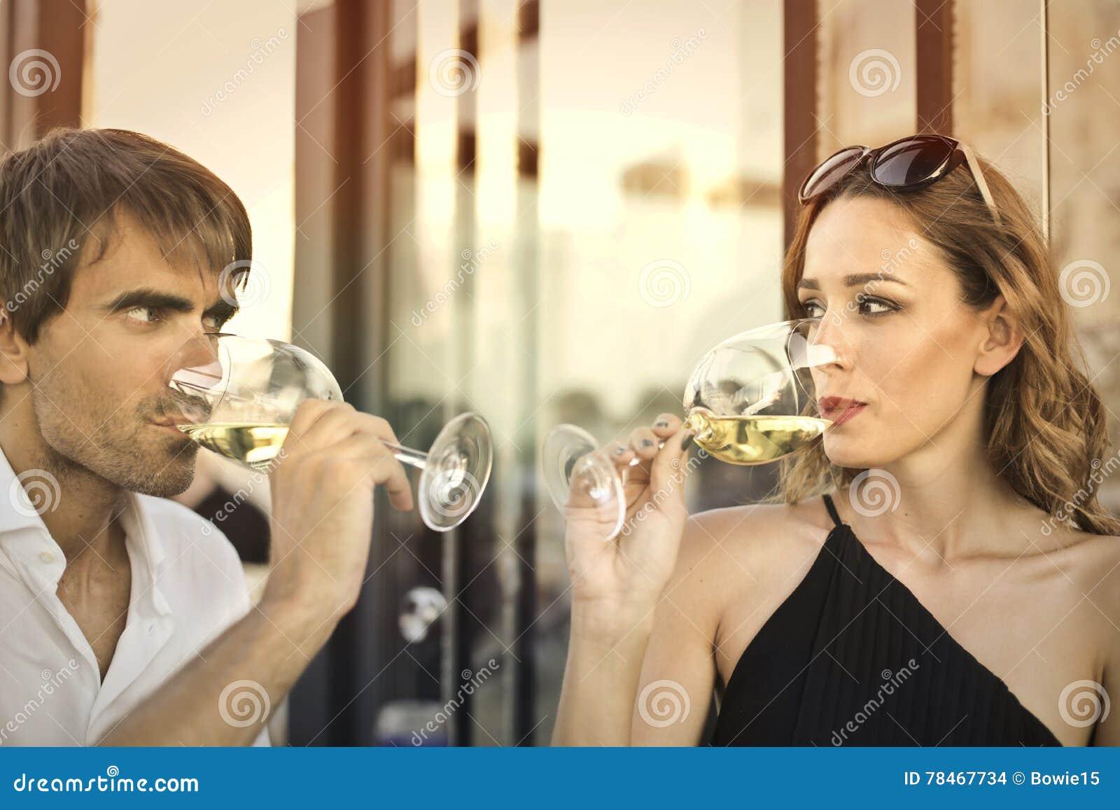 De wijn is romantisch
