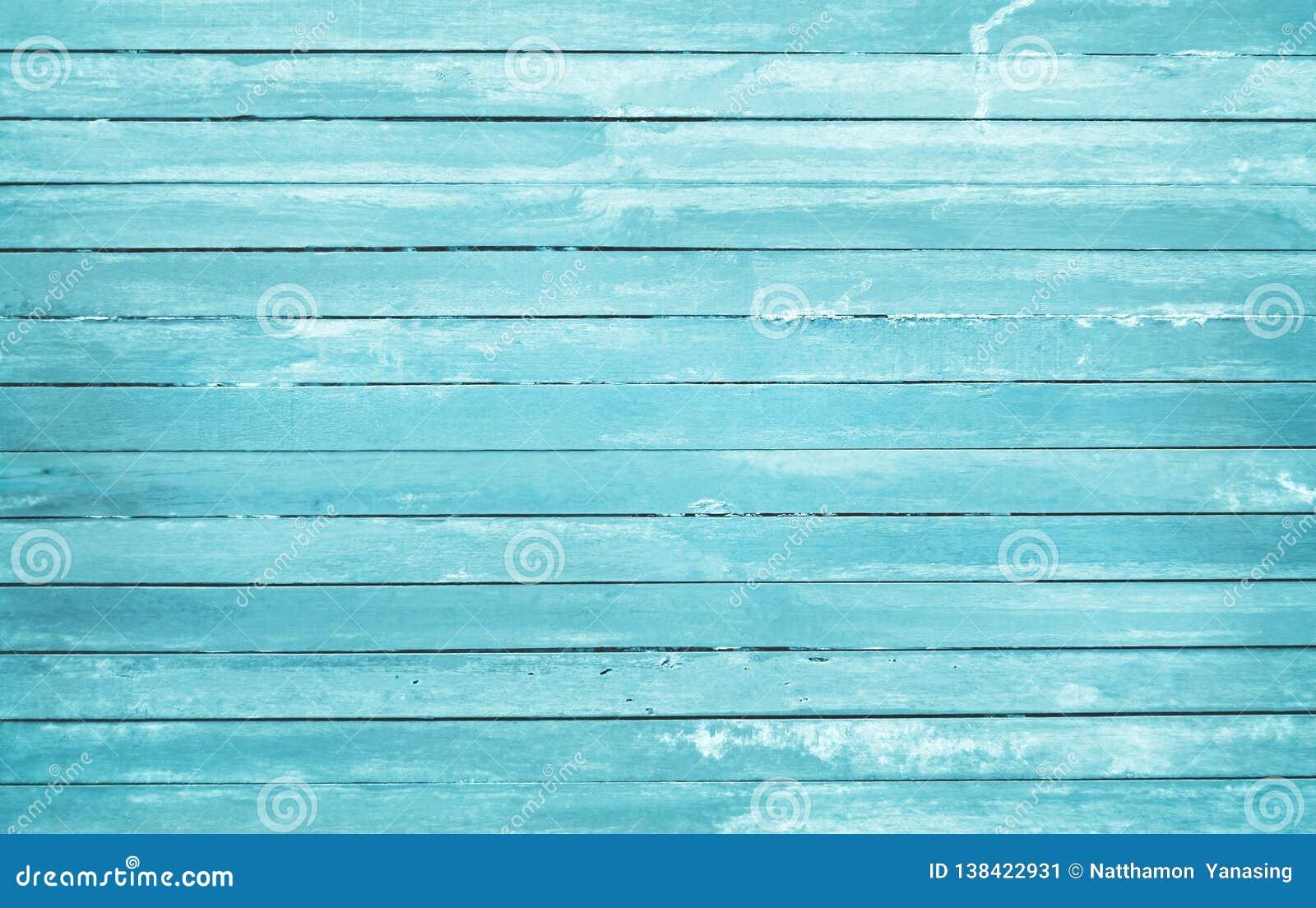 De wijnoogst schilderde houten muurachtergrond, textuur van blauwe pastelkleur met natuurlijke patronen voor het werk van de ontw