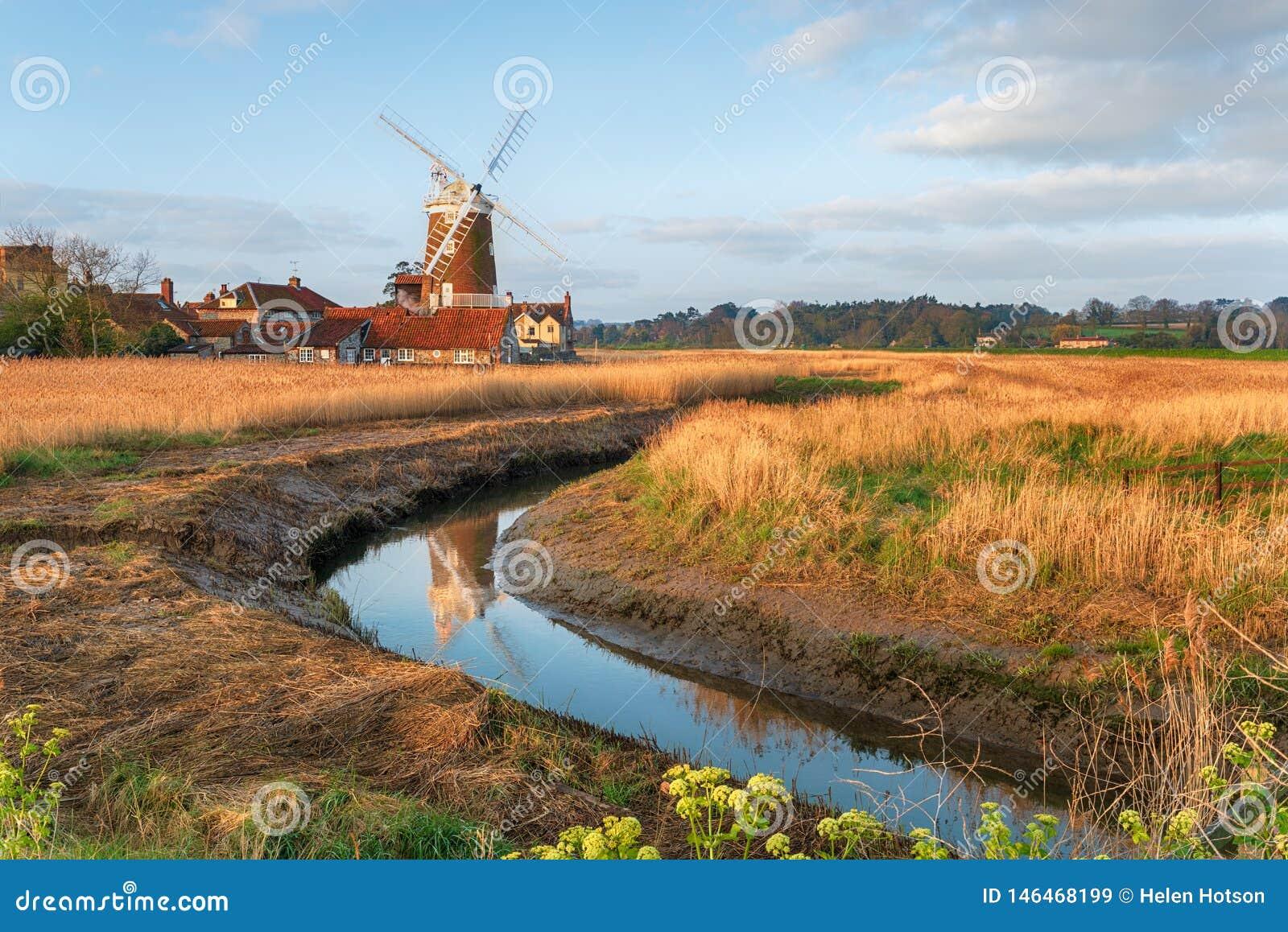 De windmolen in Cley daarna het Overzees