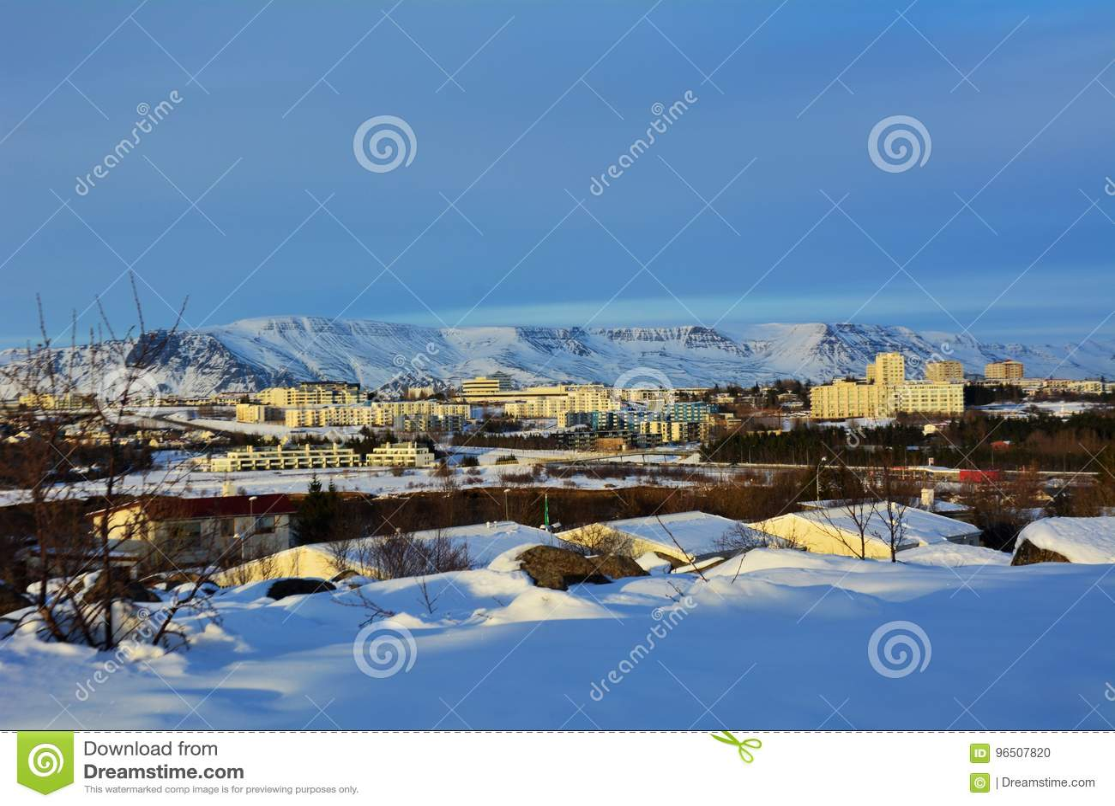 De winter in IJsland