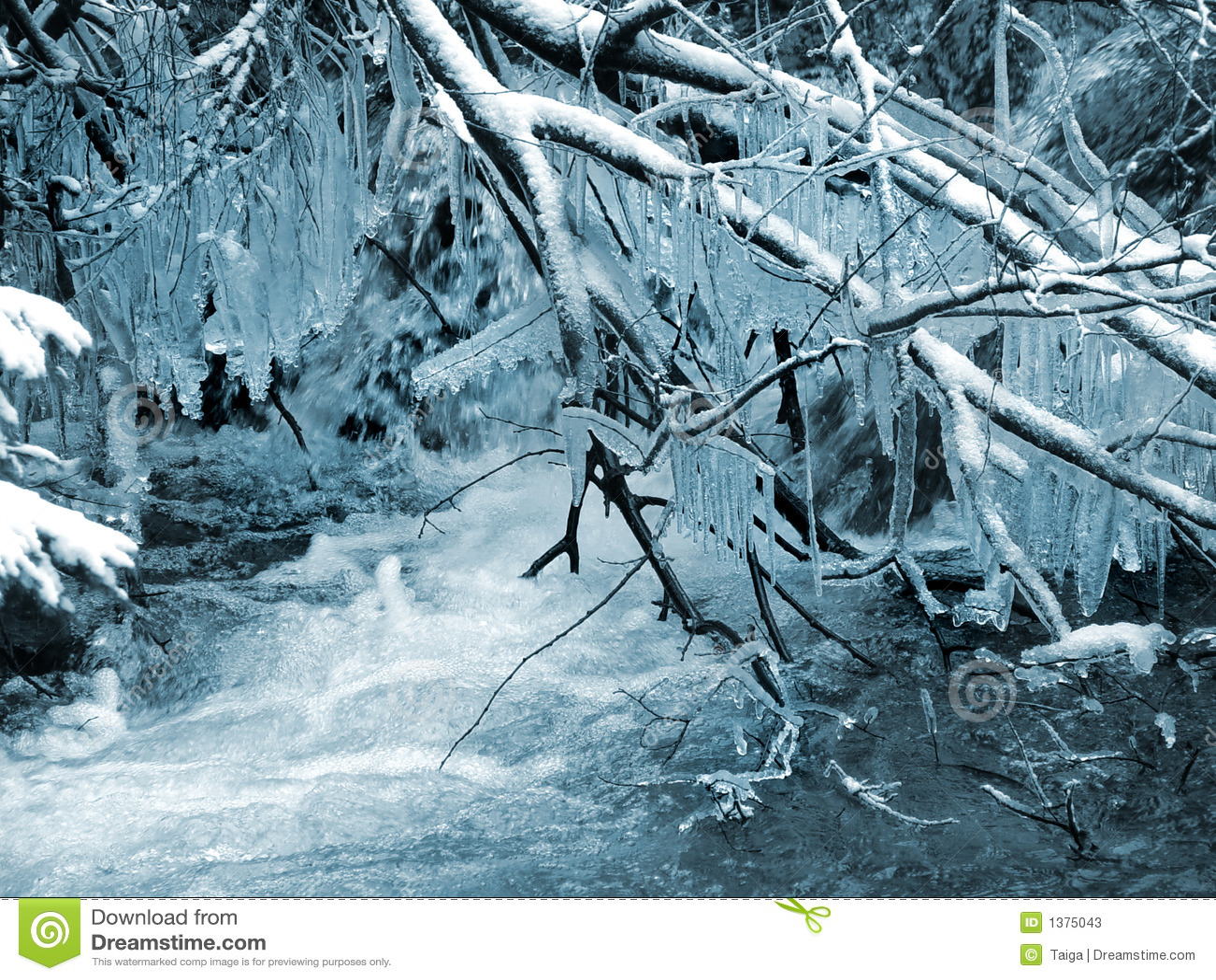 De winter. Landschap