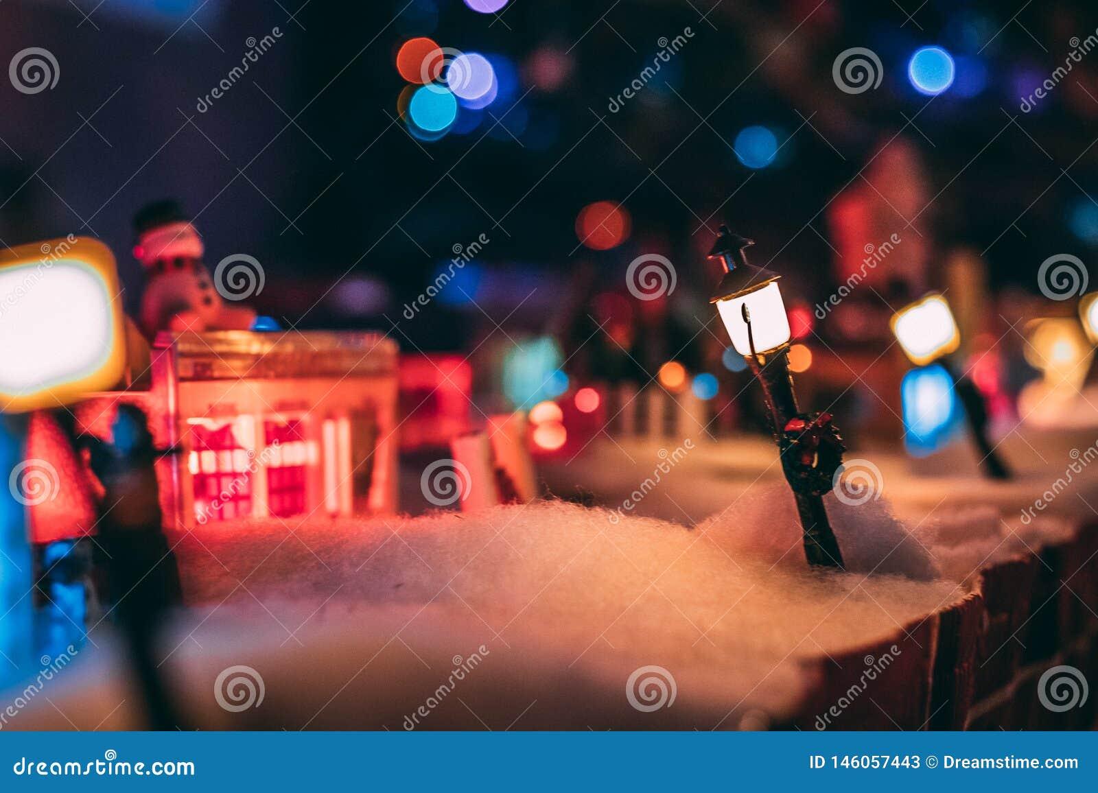 De winter in Plasticville