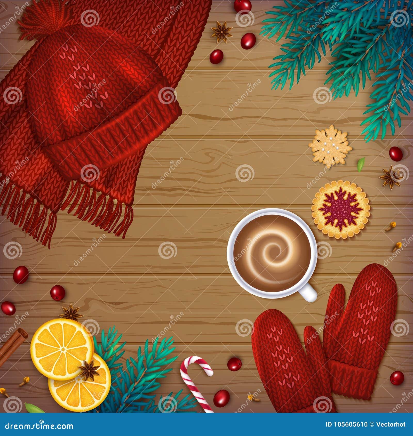 De winter traditionele Achtergrond De spar van Kerstmiselementen