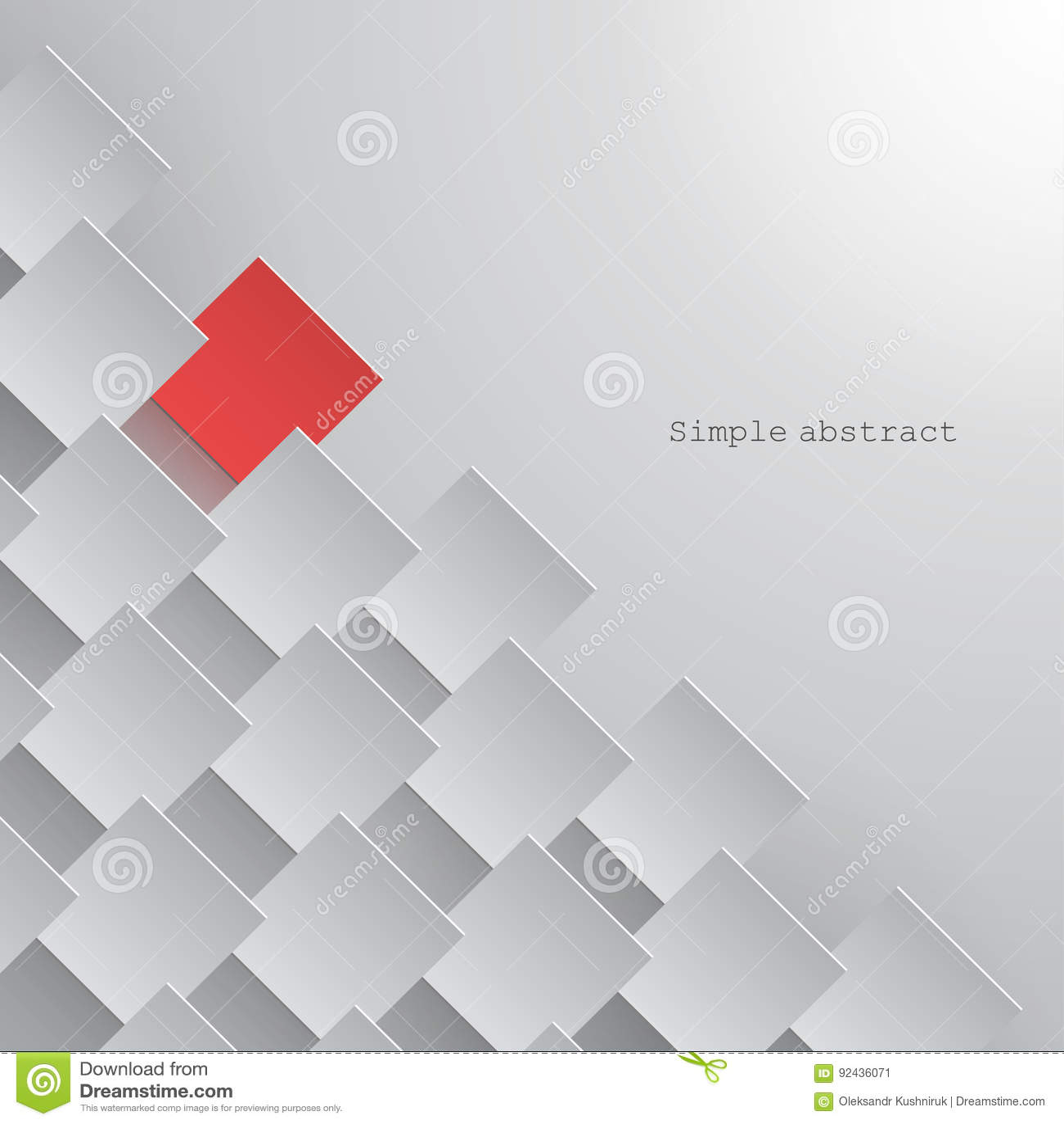 De Witboekvierkanten worden geschikt in een lijn met nadruk op één van hen