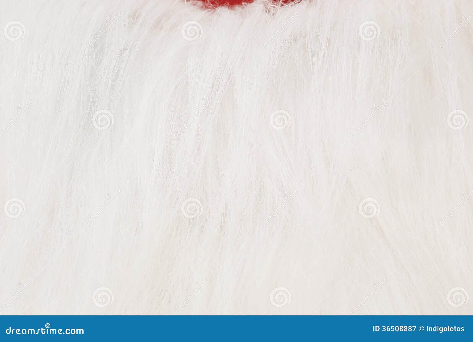 De witte baard van de kerstman.