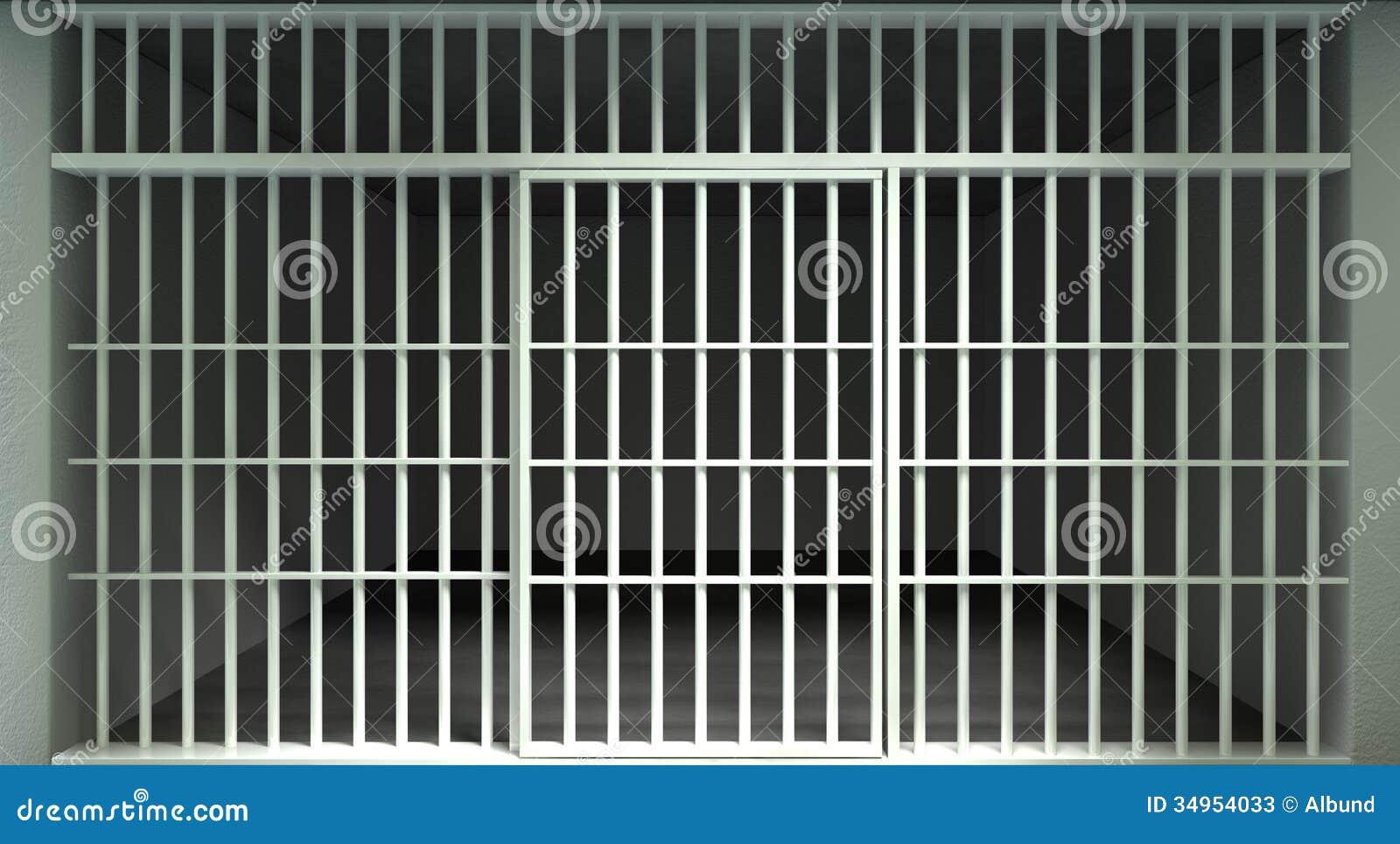 De witte Cel Front Locked van de Bargevangenis