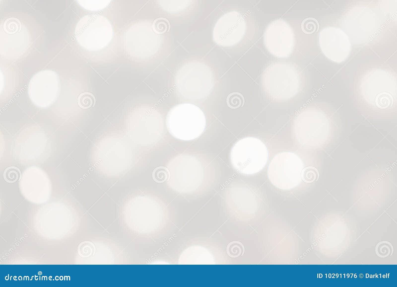 De witte lichten bokeh vertroebelden achtergrond, abstracte mooie onscherpe zilveren de partijtextuur van de Kerstmisvakantie, ex