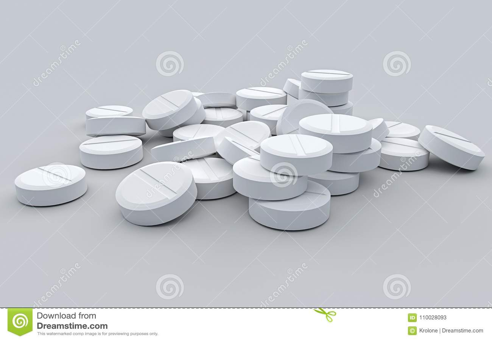 De witte tablet op een grijze achtergrond