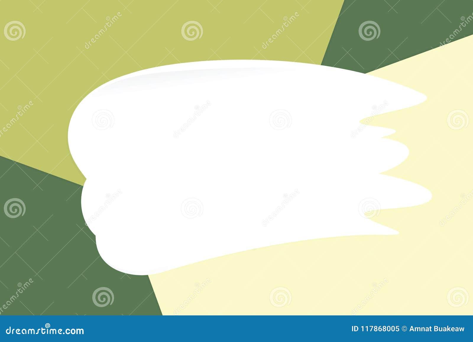 De witte vlekkenroom op kleurrijke pastelkleur zachte document schoonheidsmiddelen als achtergrond voor exemplaar ruimtebericht,