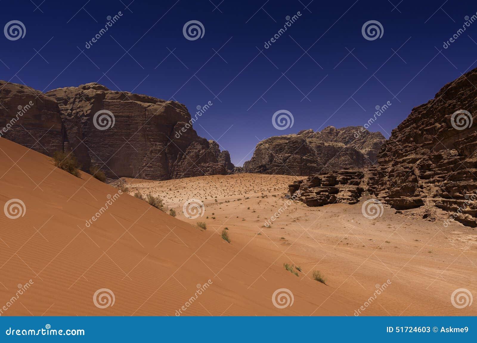 De Woestijn van de Rum van de wadi, Jordanië