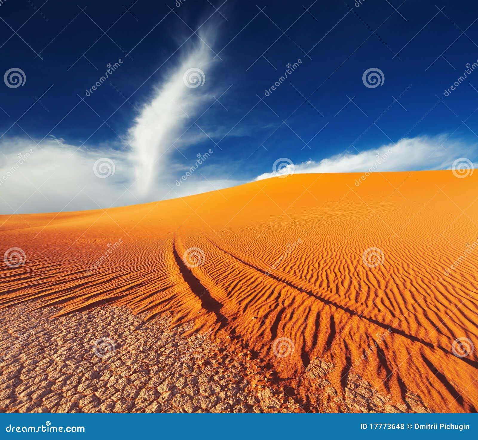 De Woestijn van de Sahara, Tadrart, Algerije