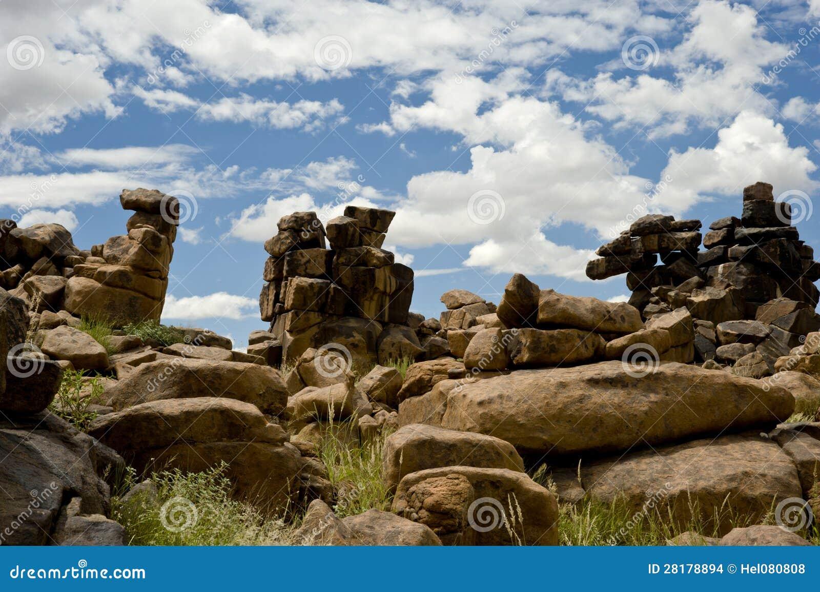 De Woestijn van de steen in Namibië