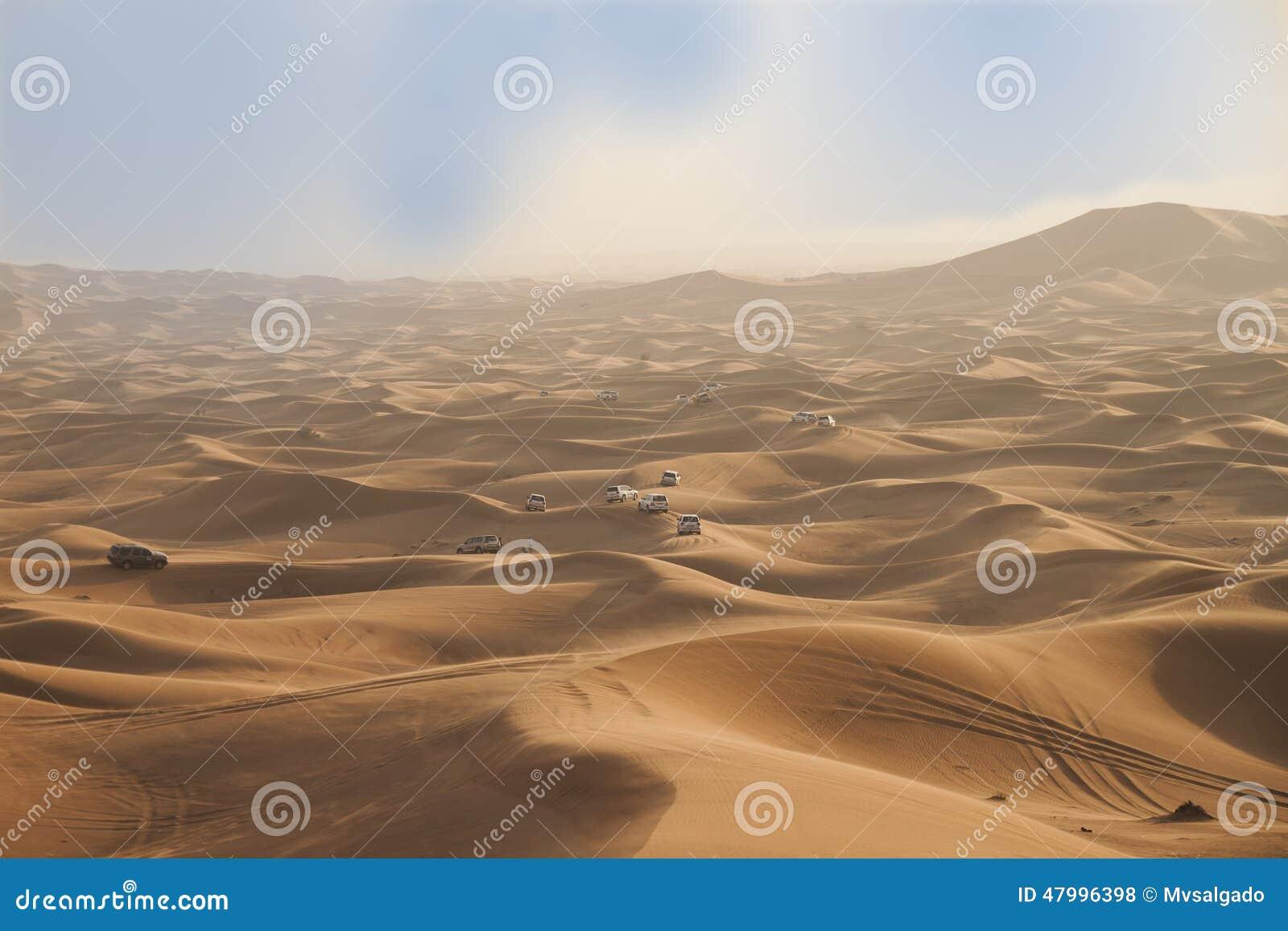 De woestijn van Doubai