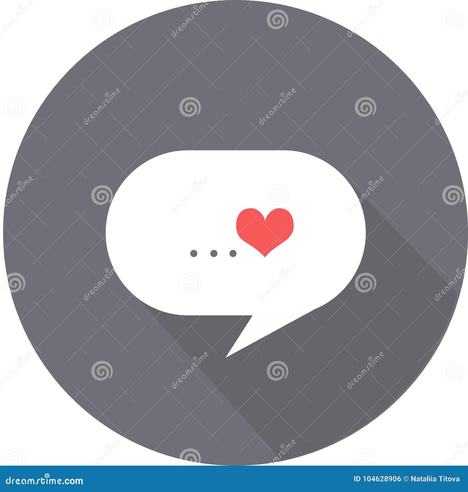 Download De Wolk Van Gedachten Van De Dag Vlak Pictogram Van Liefdevalentine ` S Op Grijze Achtergrond Met Schaduw Vector Illustratie - Illustratie bestaande uit hart, symbool: 104628906