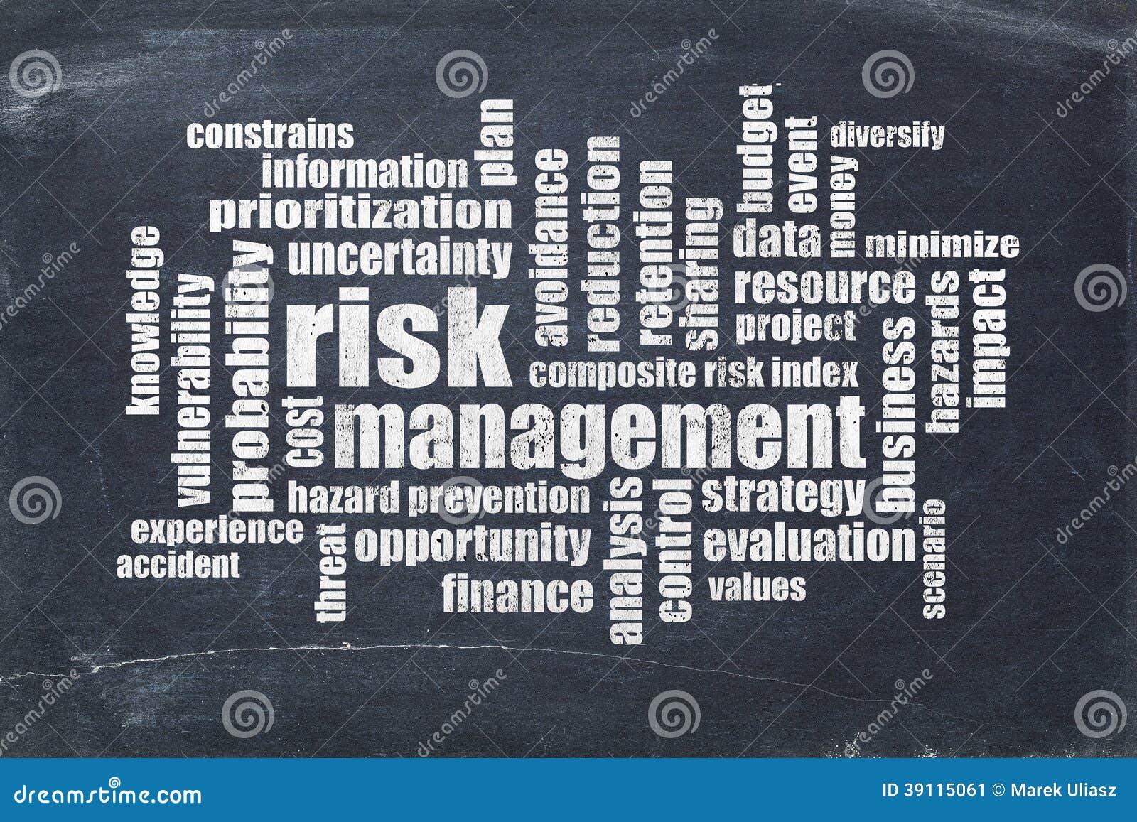 De wolk van het risicobeheerwoord