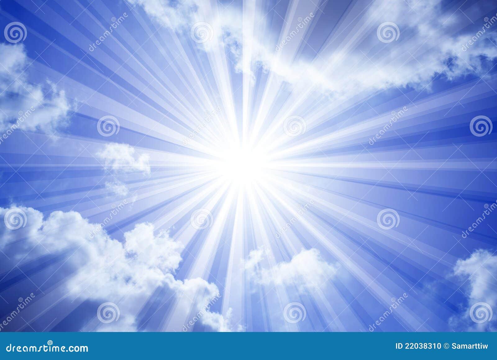De Wolken van de Zon van de hemel