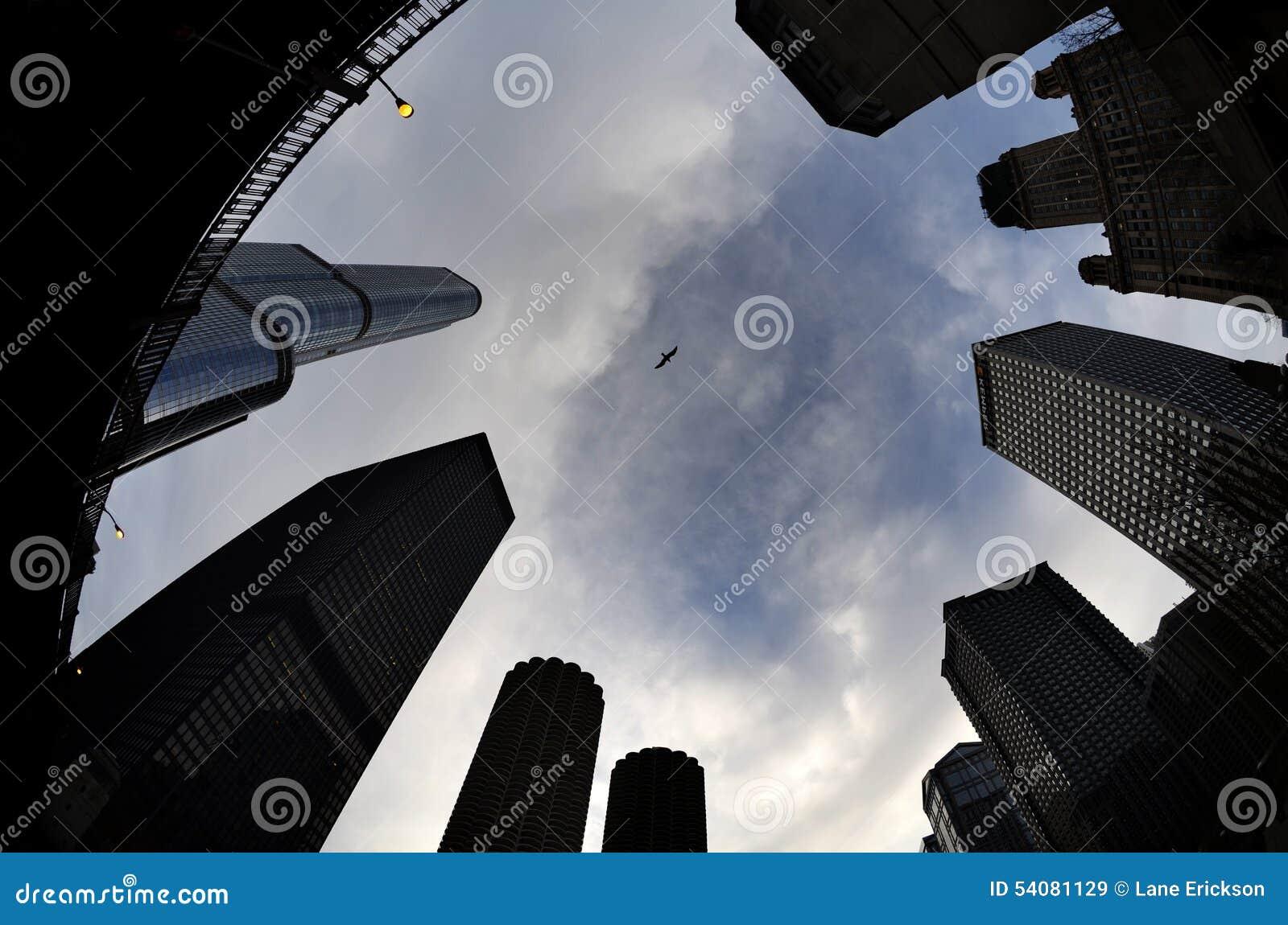 De Wolkenkrabbers Stedelijk Landschap van stadsgebouwen