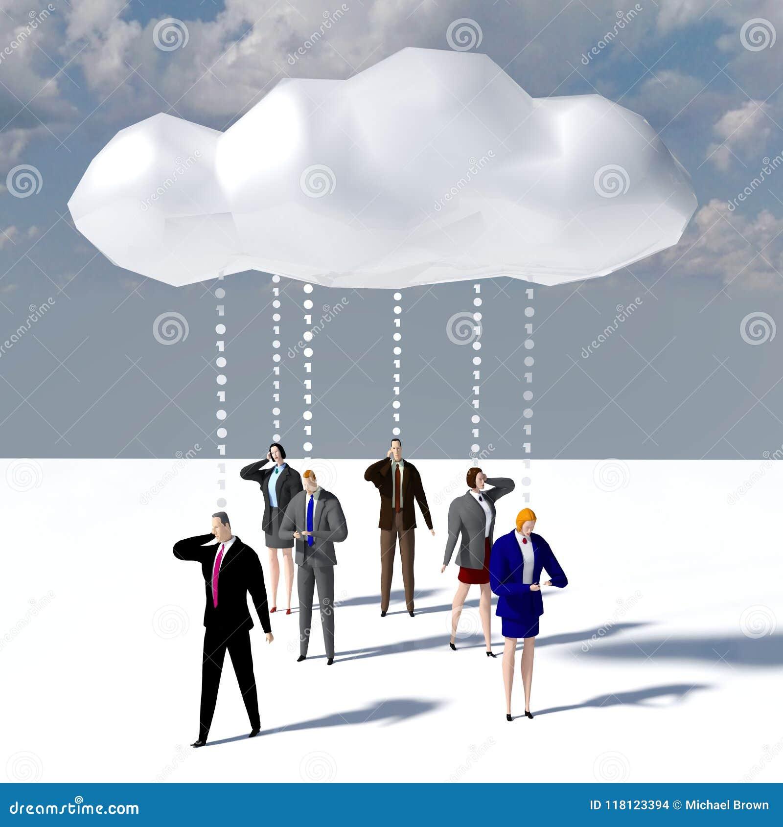 De wolkenmededeling van bedrijfsmensengegevens
