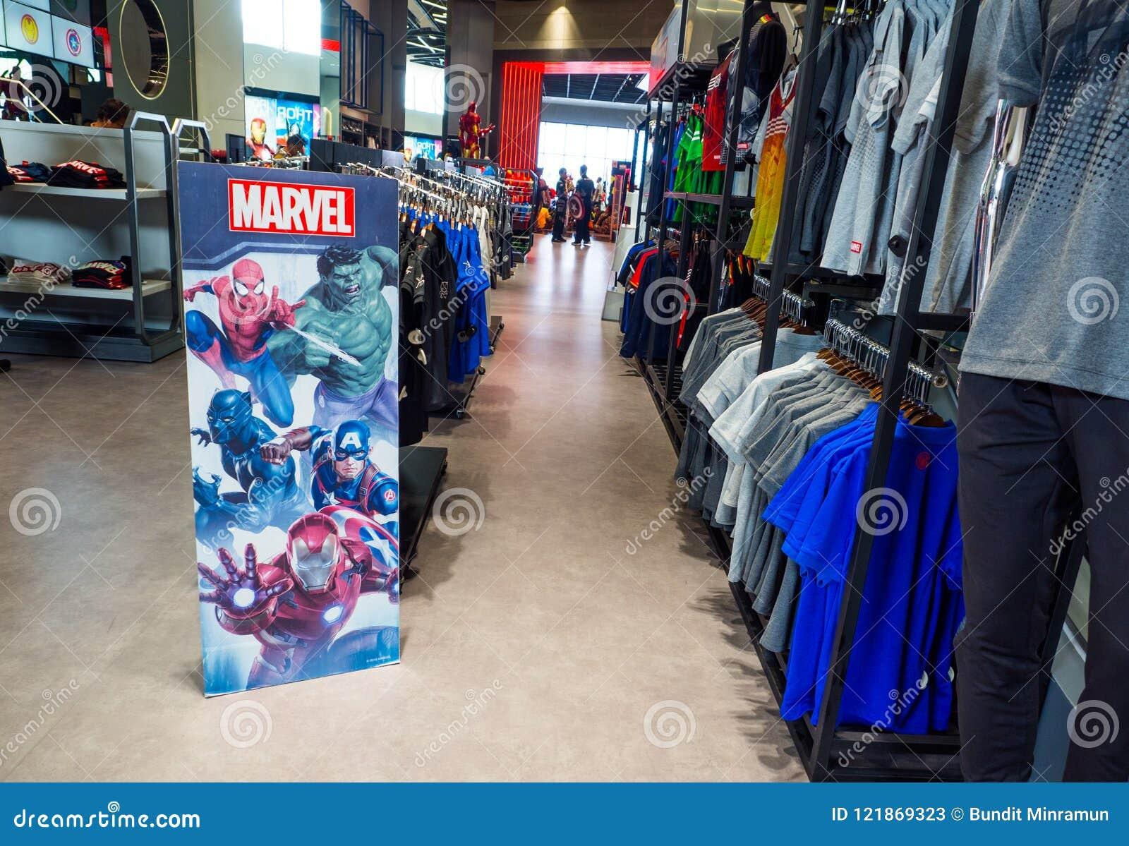 De wonderervaring superstore is een detailhandel voor een ventilator van de strippagina van Wondersuperheroes