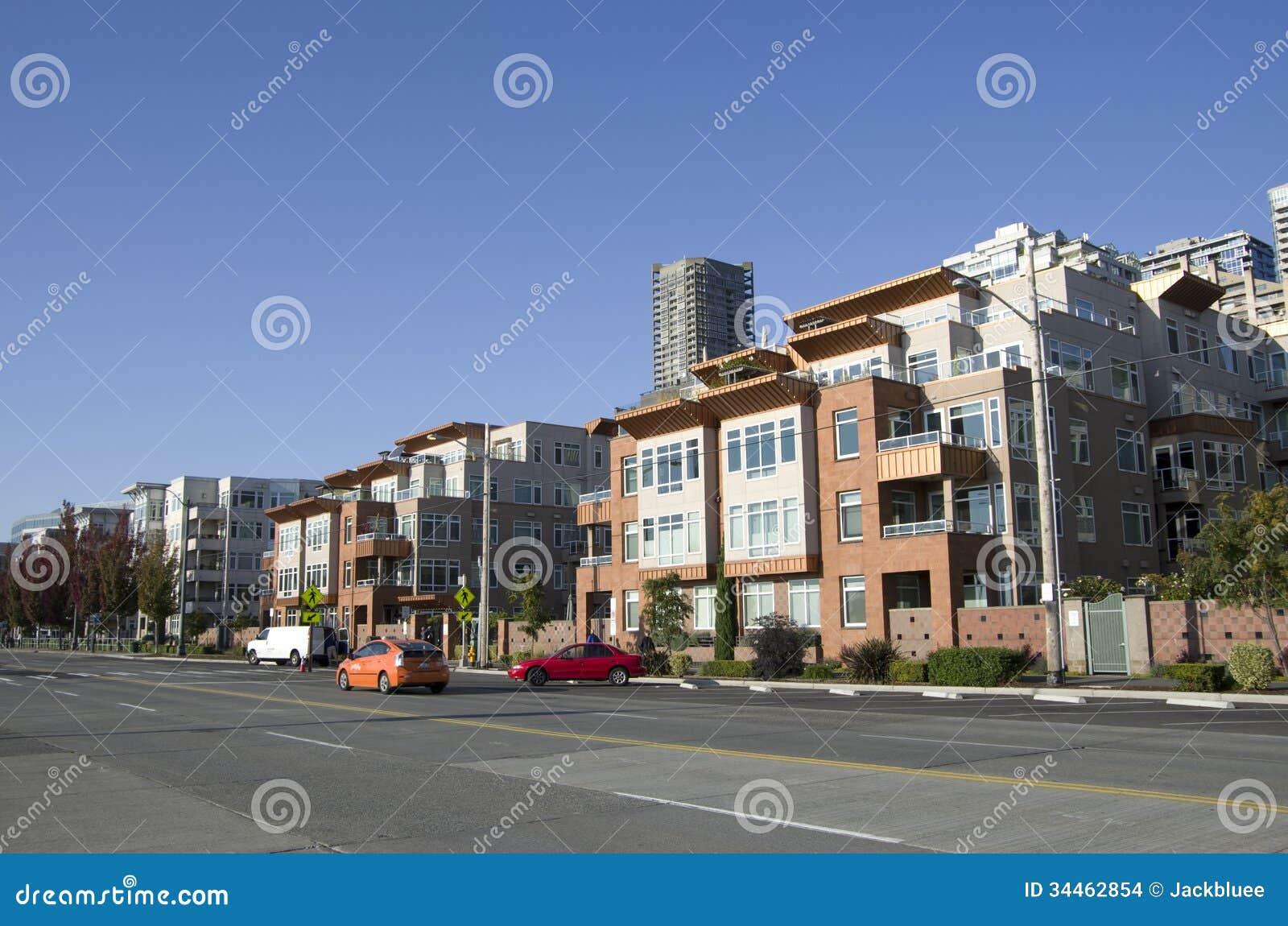 De woonflat van de Waterkant van huisvestingsseattle