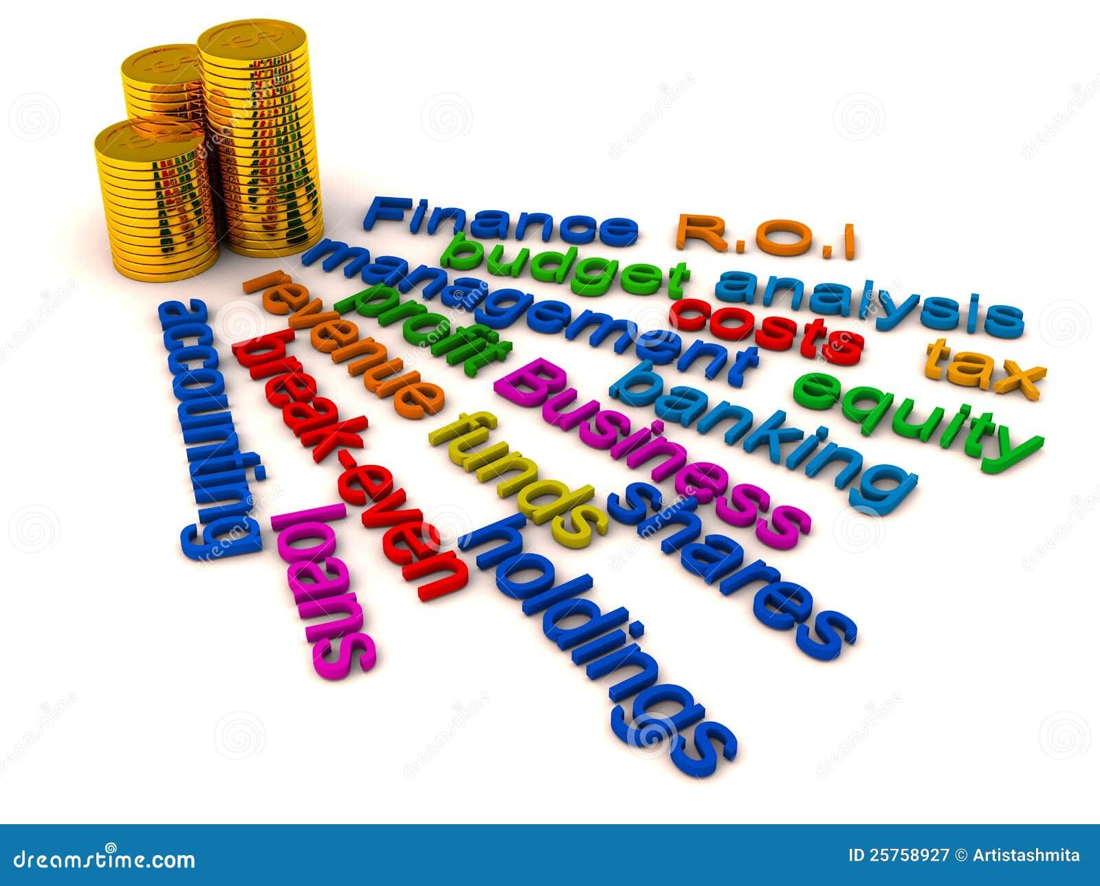 De woordencollage van financiën