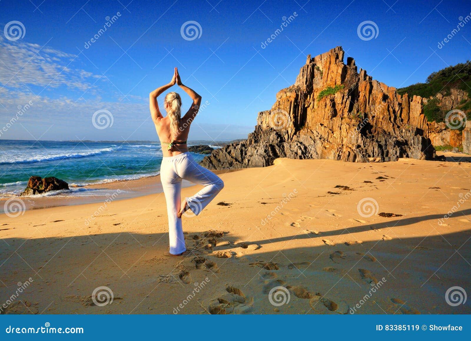 De yoga leeft het spannings vrij gezond leven