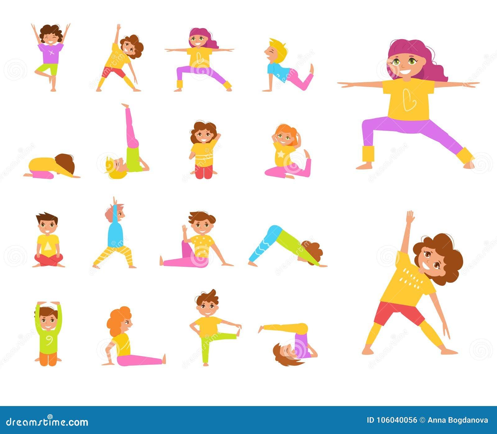 De yoga van kinderen Vector