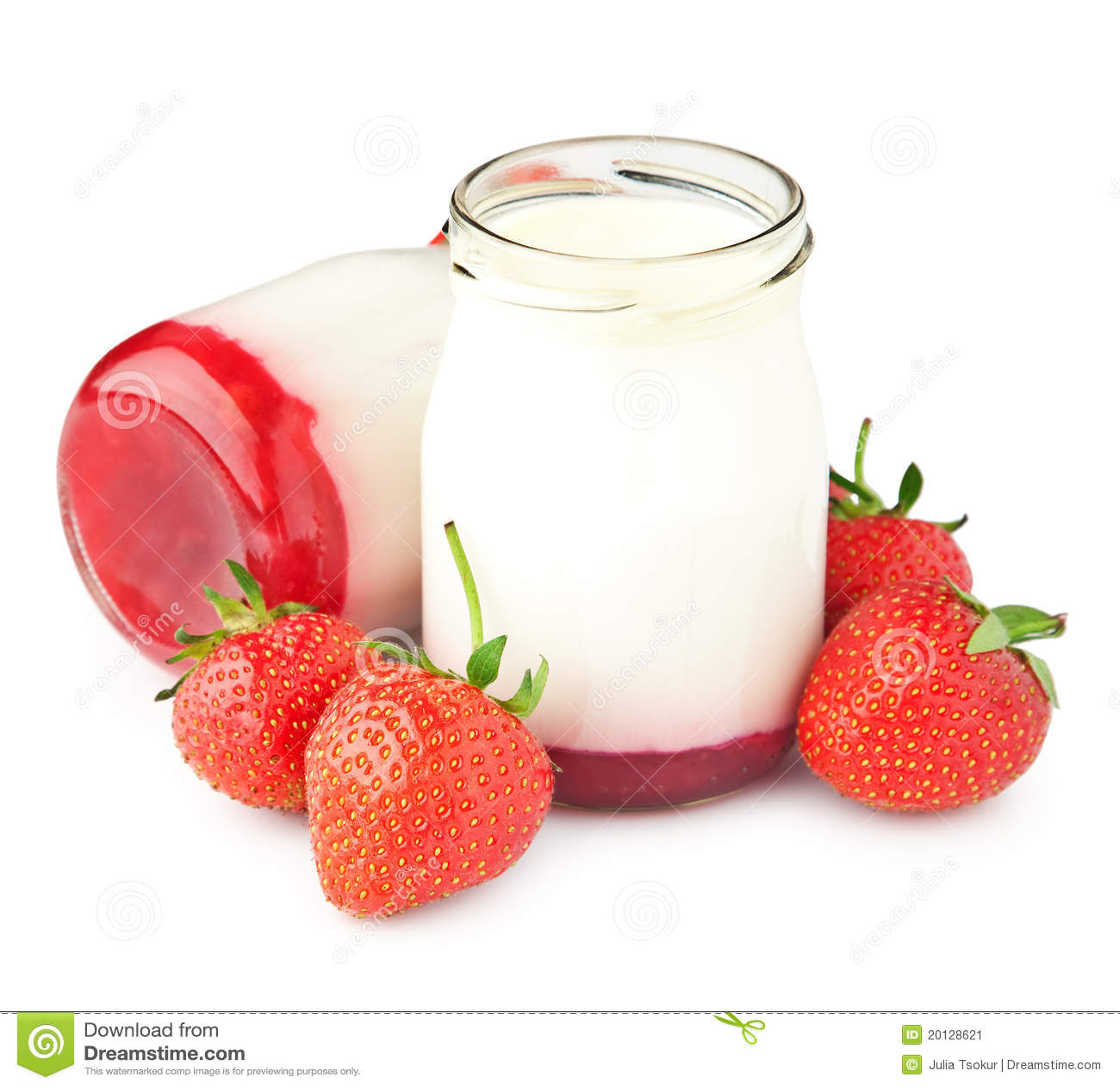 De yoghurt van de bes