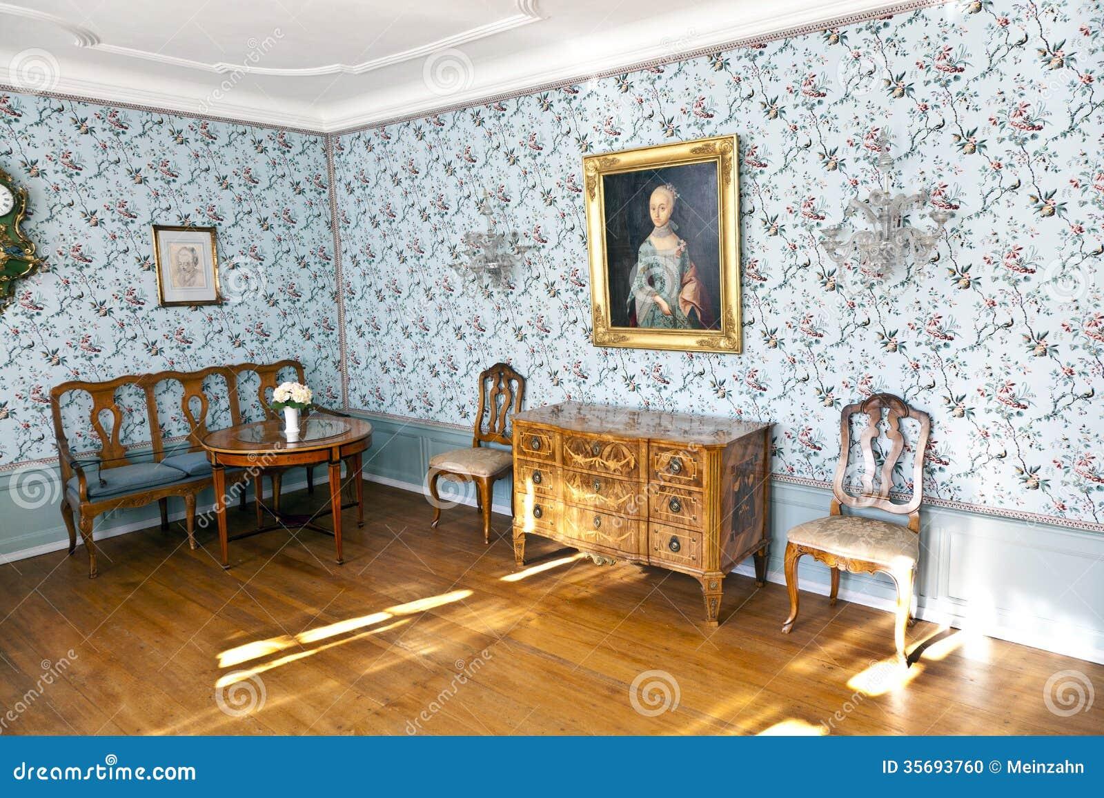 De zaal van cornelia goethe in het goethe huis in frankfurt am main redactionele afbeelding - Huis van de wereld canapes ...