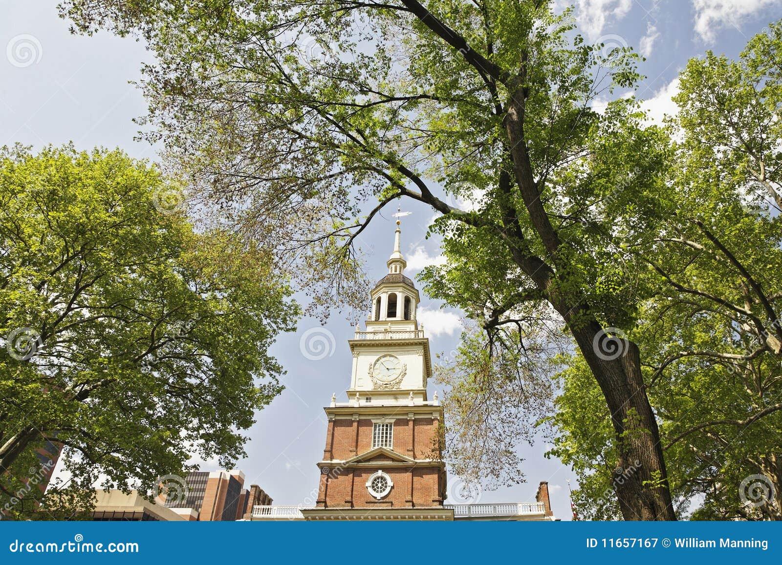 De Zaal van de onafhankelijkheid in Philadelphia