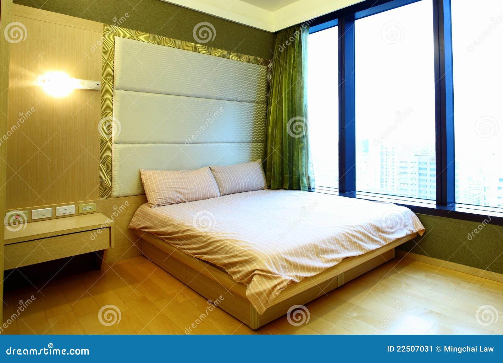 De zaal van het bed van de flat stock afbeelding afbeelding 22507031 - Versiering van de zaal van het tienermeisje van ...