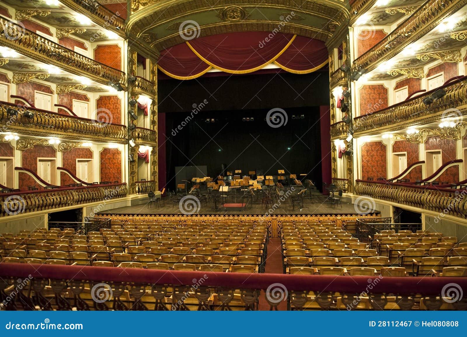 De zaal van het huis van de opera van manaus stock afbeelding afbeelding 28112467 - Versiering van de zaal van het tienermeisje van ...