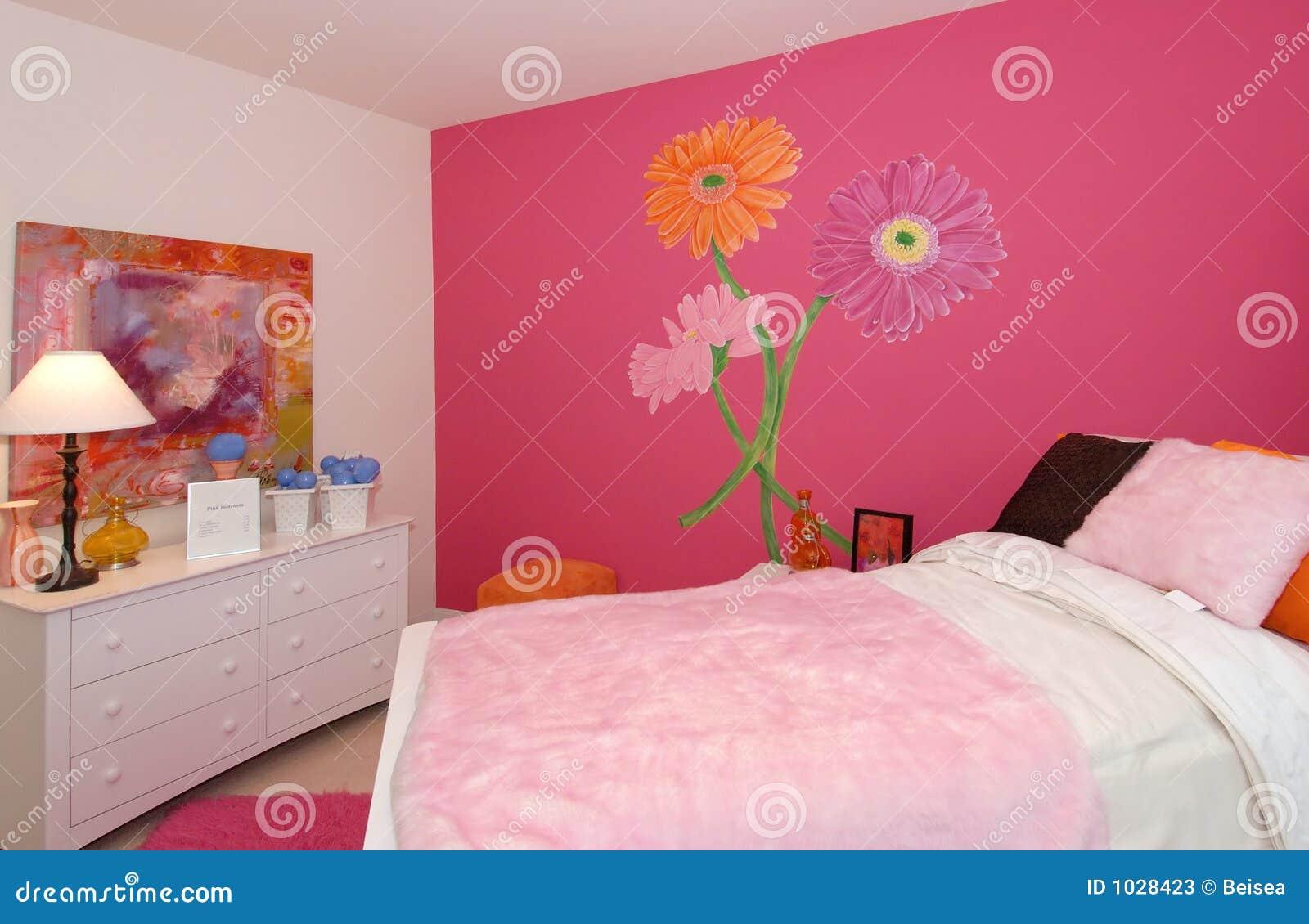 De zaal van het roze meisje stock afbeelding afbeelding