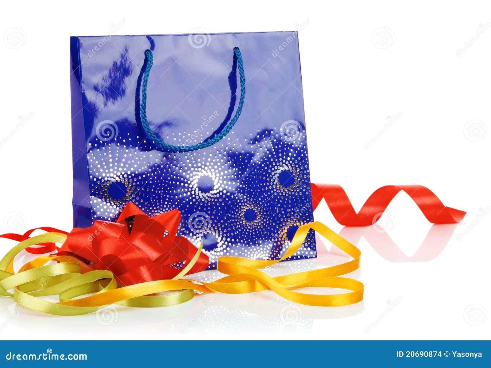 De zak van de gift met boog en linten
