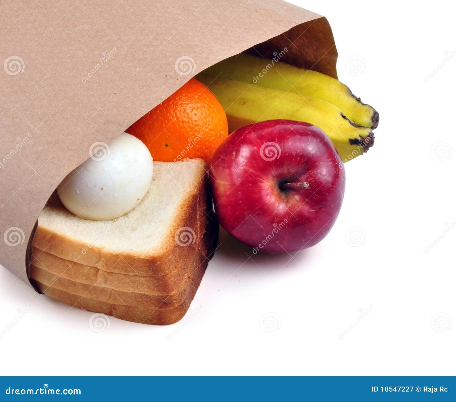 De zak van de lunch - weg