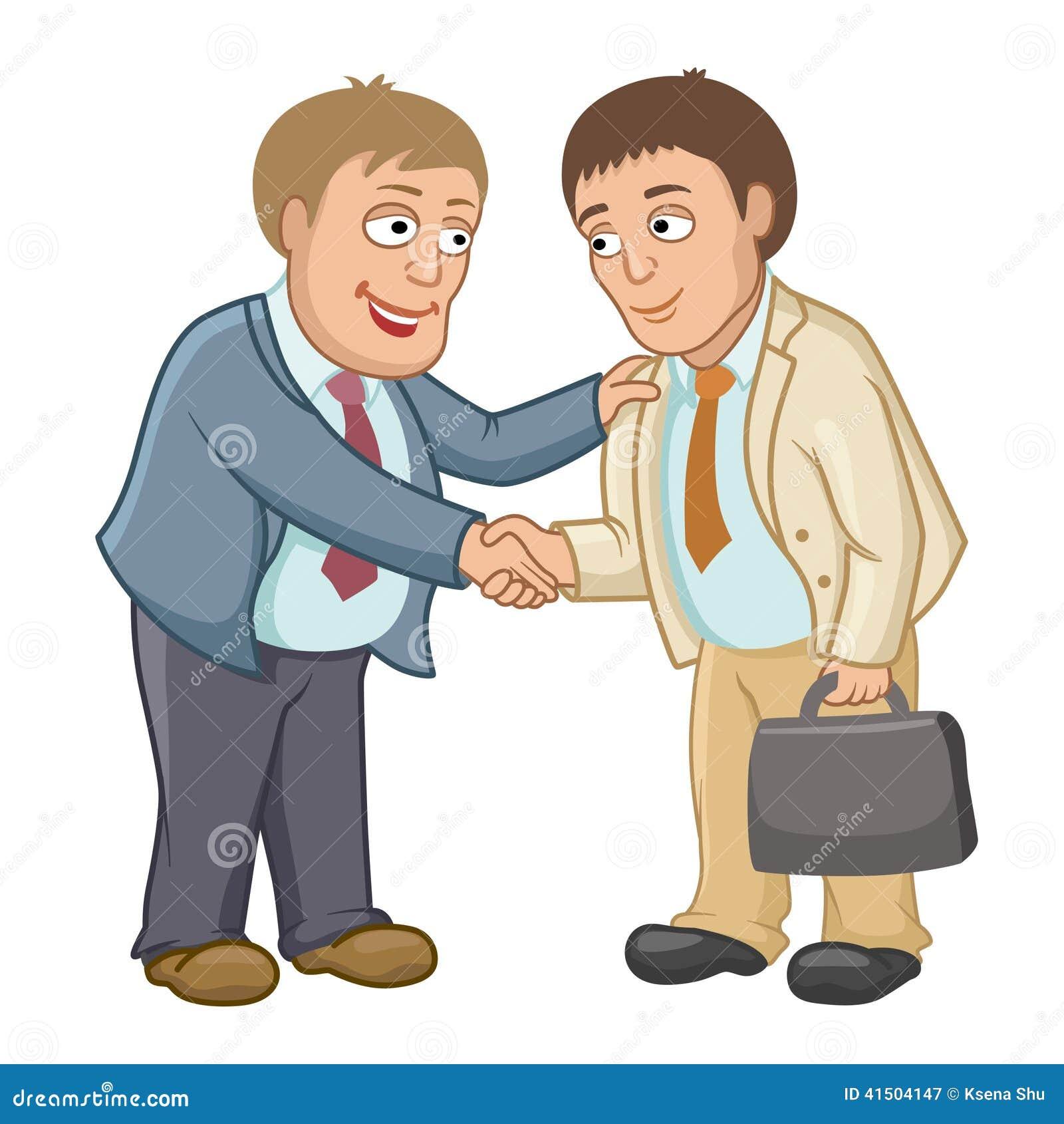 De zakenlieden schudden handen als teken van samenwerking