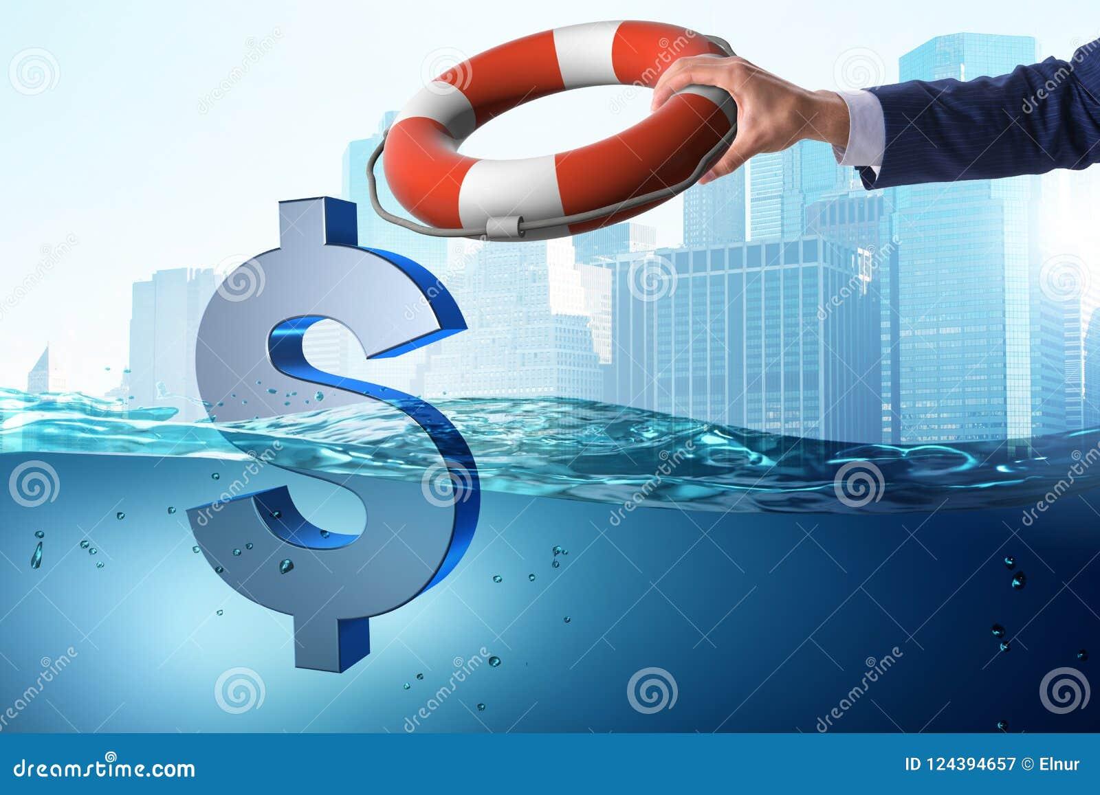 De zakenman die Amerikaanse dollarmunt van inflatie bewaren