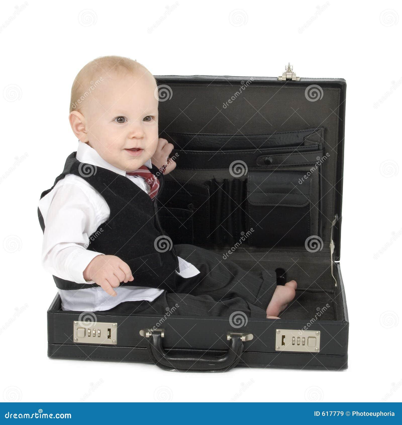 De Zakenman van de baby in Aktentas