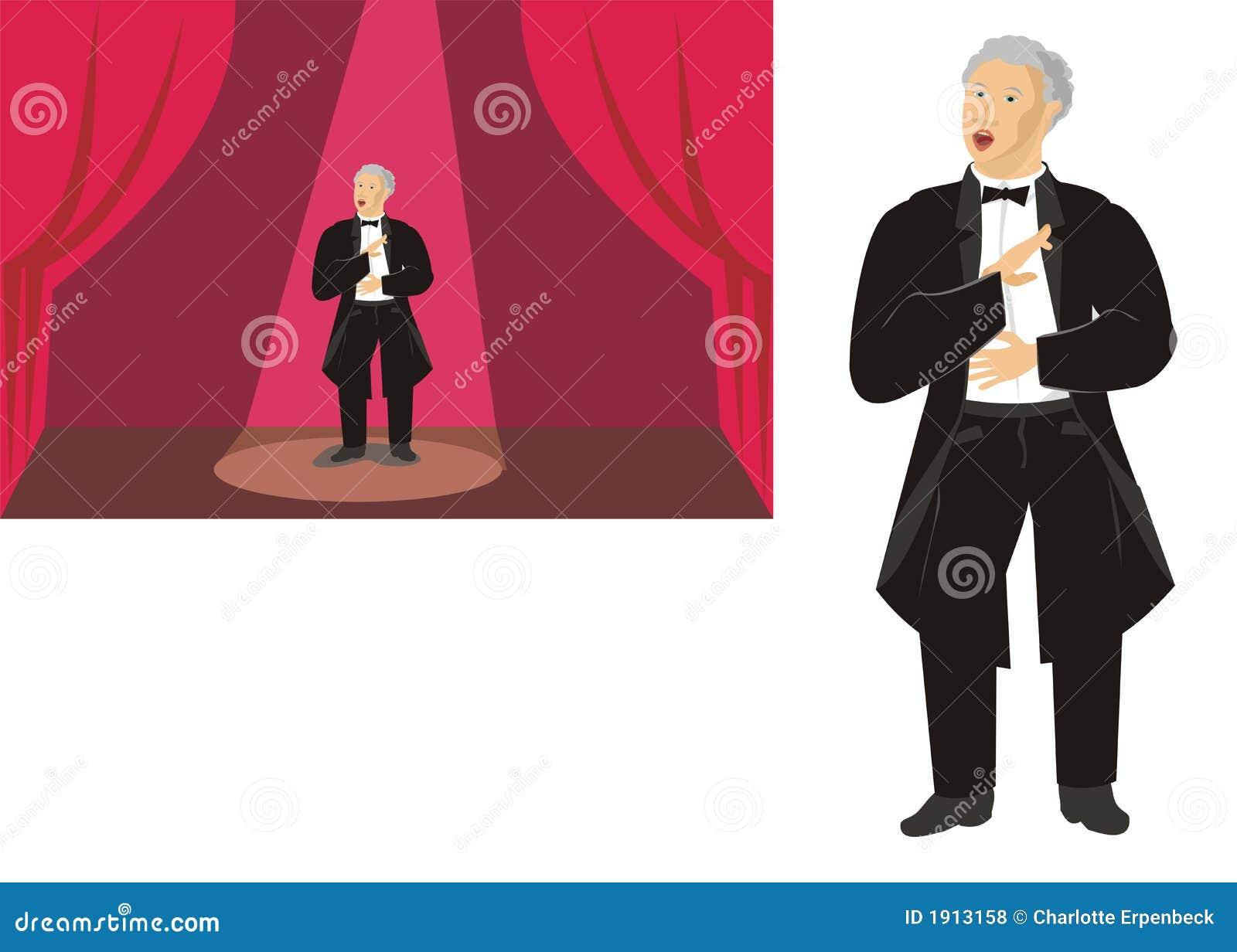 De zanger van de opera