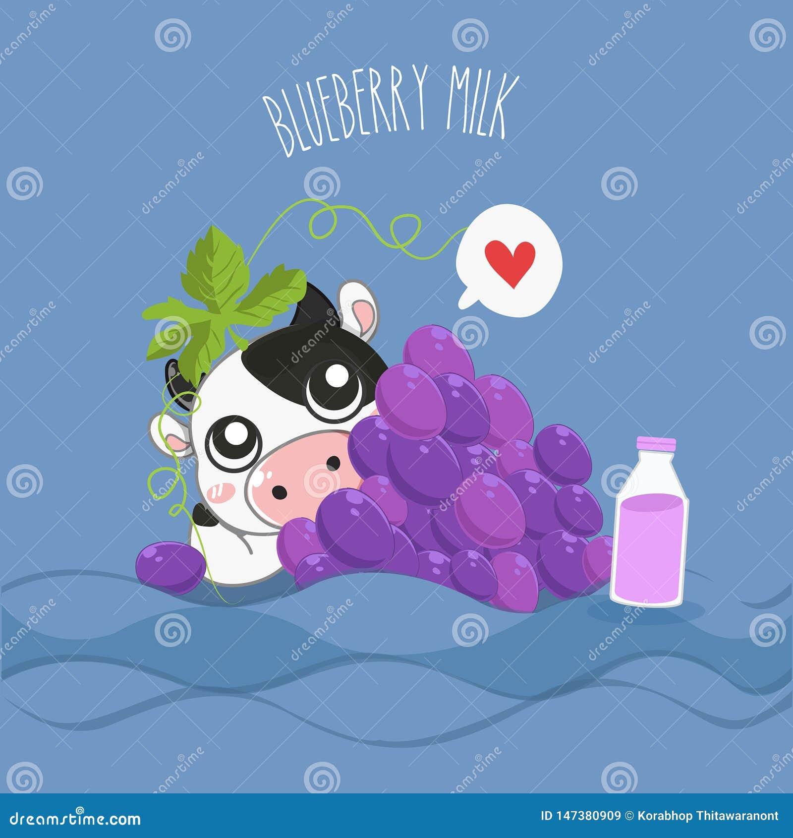 De zeer leuke melkkoe van de druivenmelk