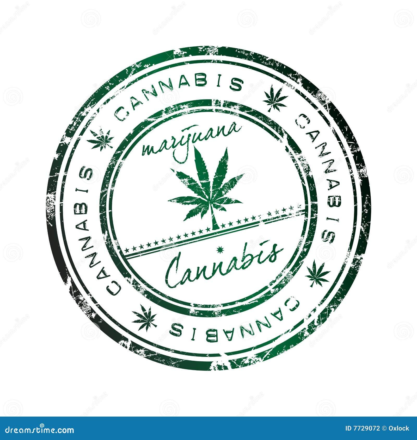 De zegel van de cannabis