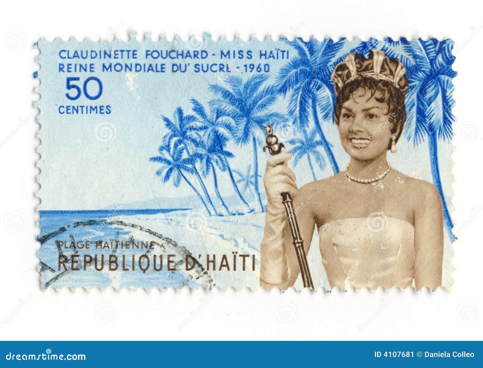 De zegel van misser Haiti 1960