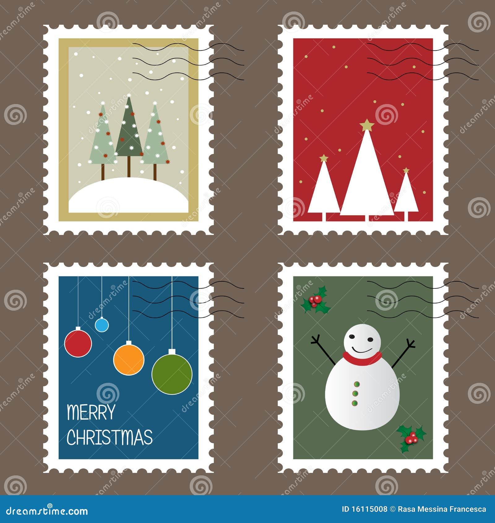 De zegels van Kerstmis