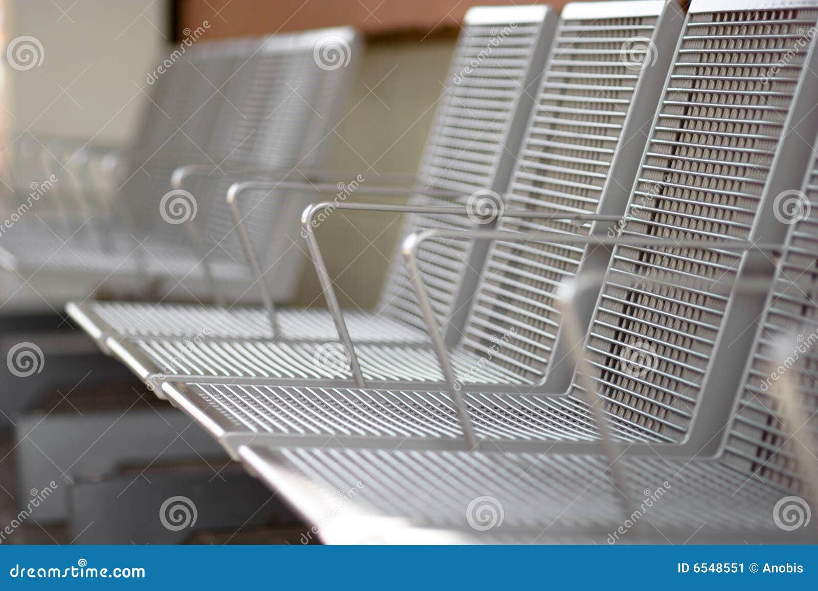 De zetels van het metaal