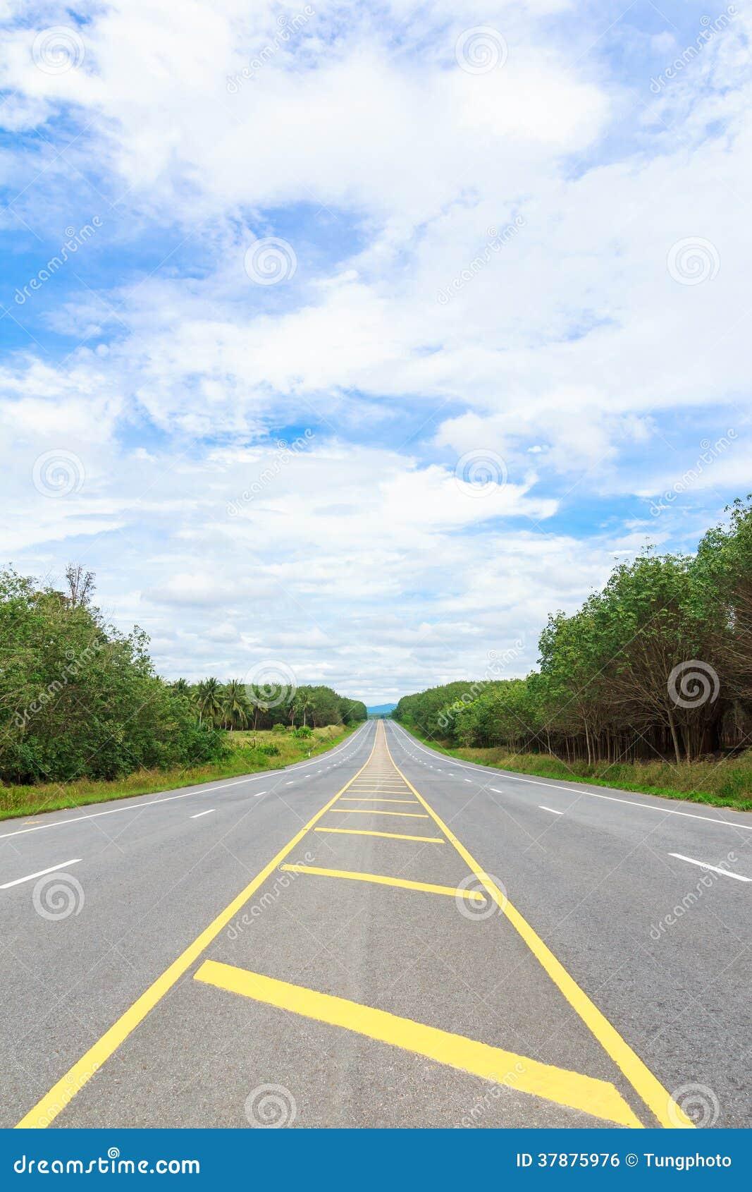 De zijweg van het land